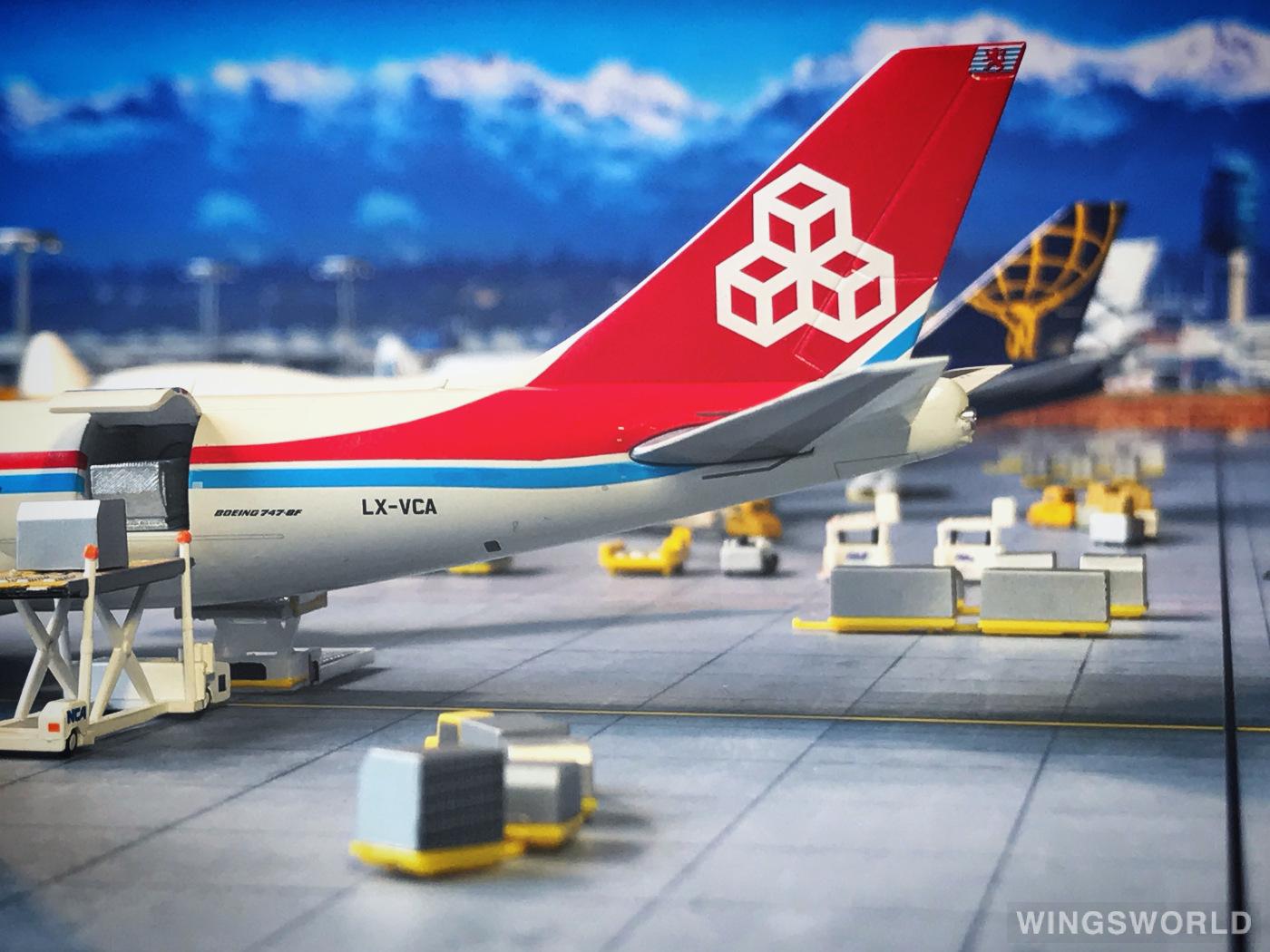 Geminijets 1:400 GJCLX1896 Cargolux 卢森堡货运航空 Boeing 747-8 LX-VCA