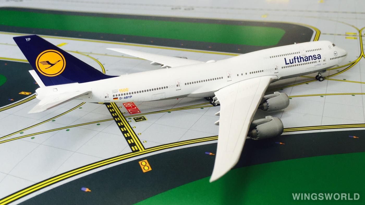 Phoenix 1:400 PH04080 Lufthansa 汉莎航空 Boeing 747-8 D-ABYP