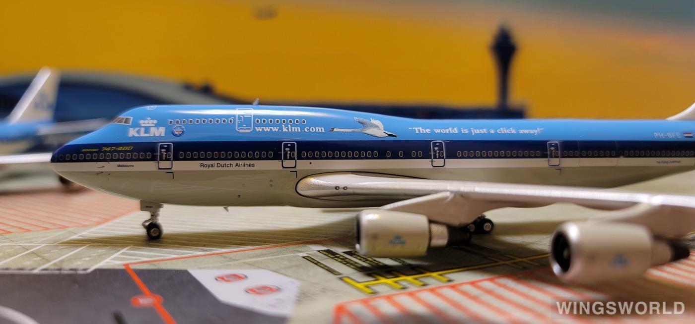 Phoenix 1:400 PH11619 KLM 荷兰皇家航空 Boeing 747-400 PH-BFE