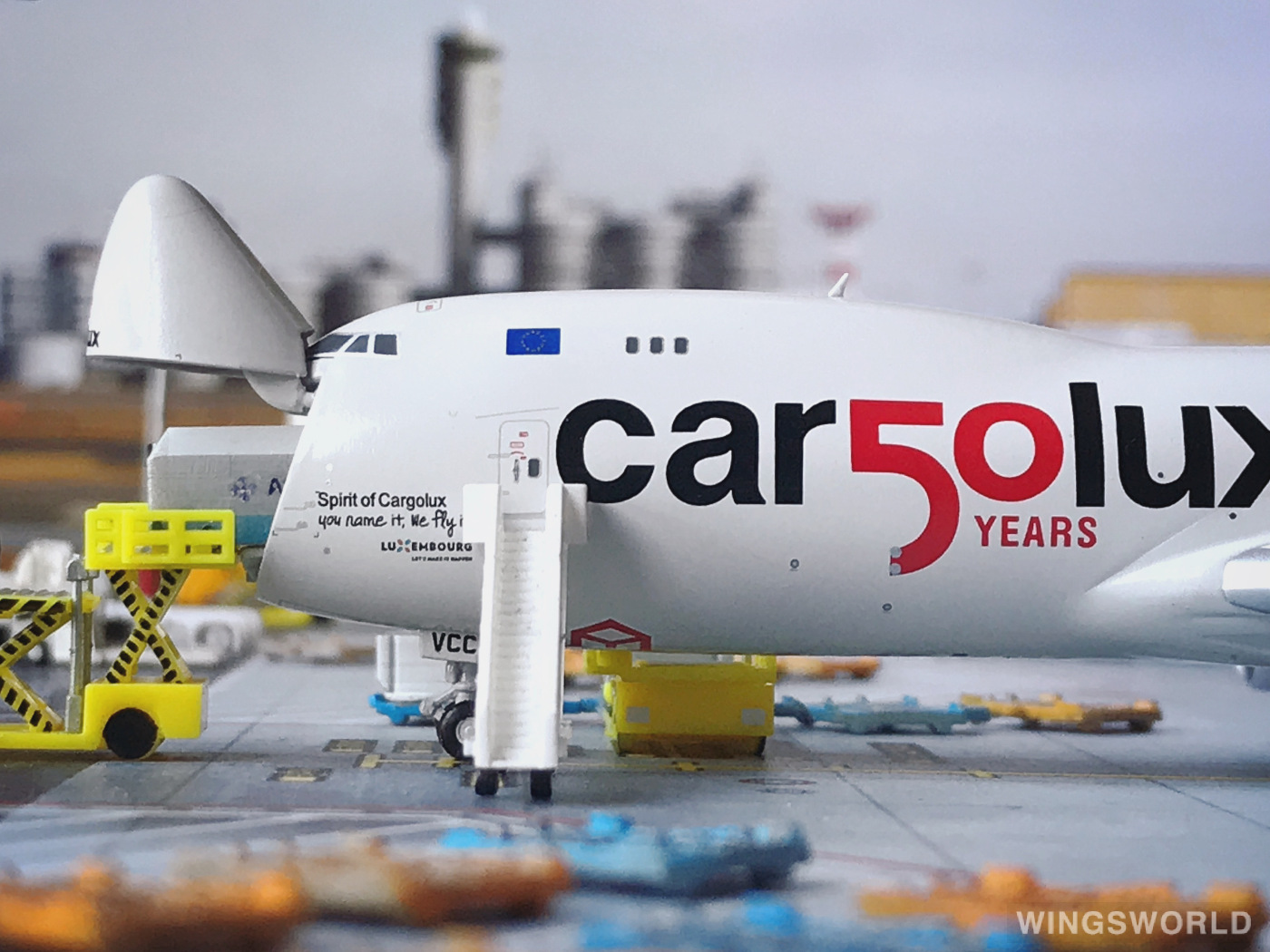 JC Wings 1:400 XX4356C Cargolux 卢森堡货运航空 Boeing 747-8 LX-VCC