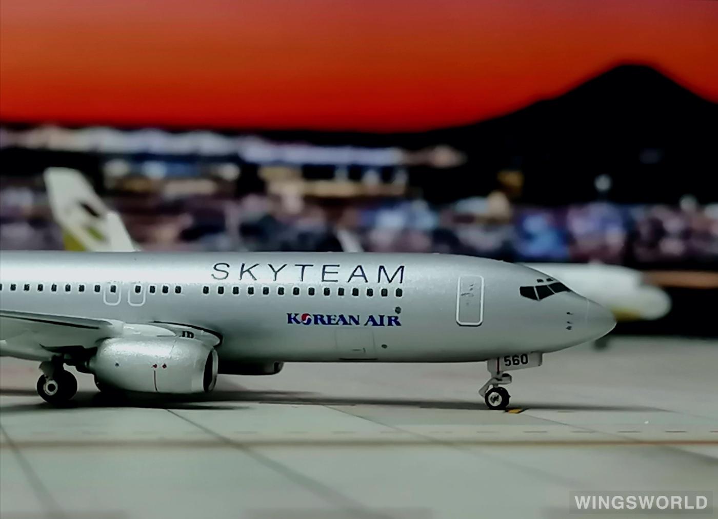 Phoenix 1:400 PH10616 Korean Air 大韩航空 Boeing 737-800 HL7560
