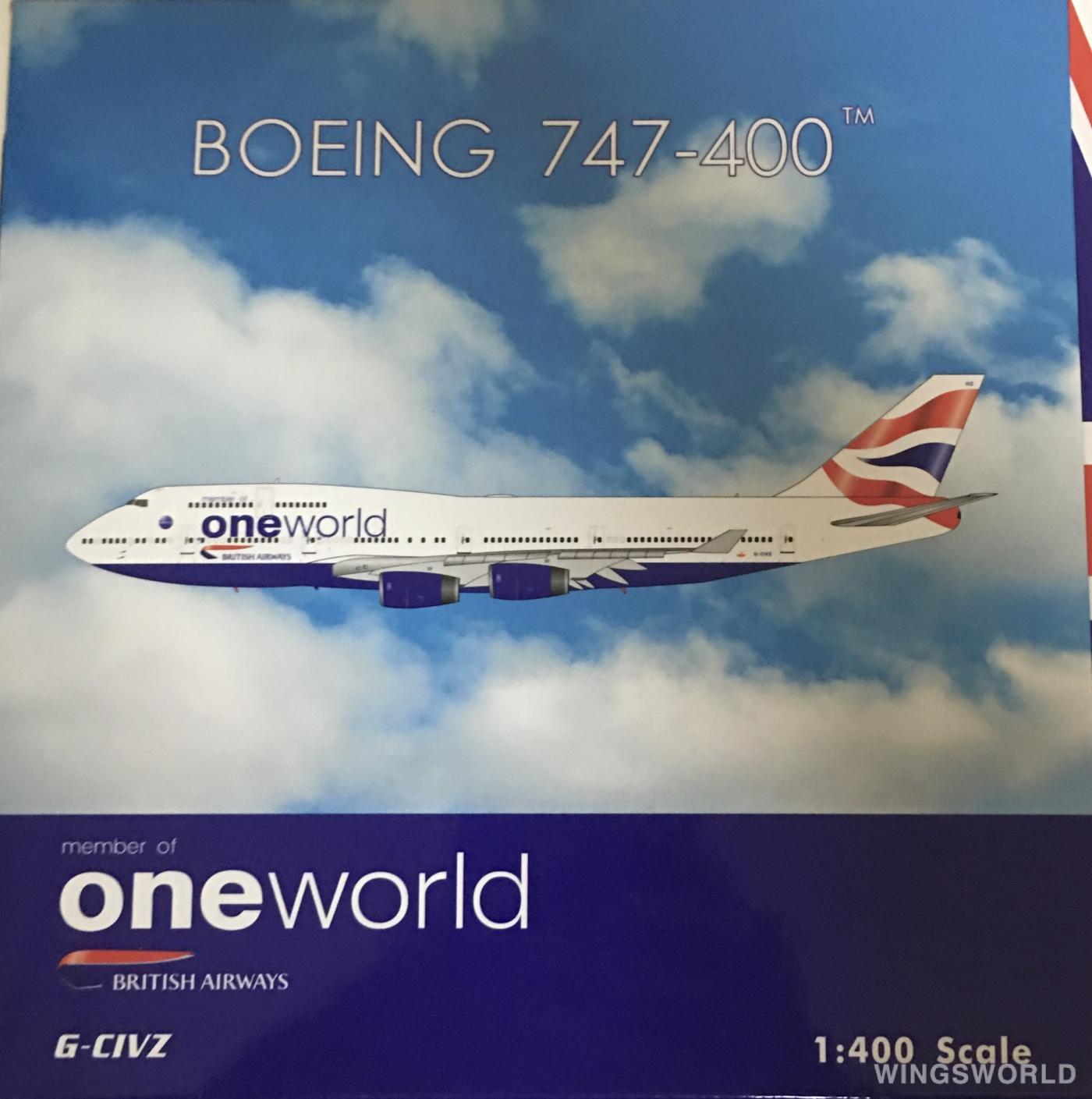 Phoenix 1:400 PH04349 British Airways 英国航空 Boeing 747-400 G-CIVZ