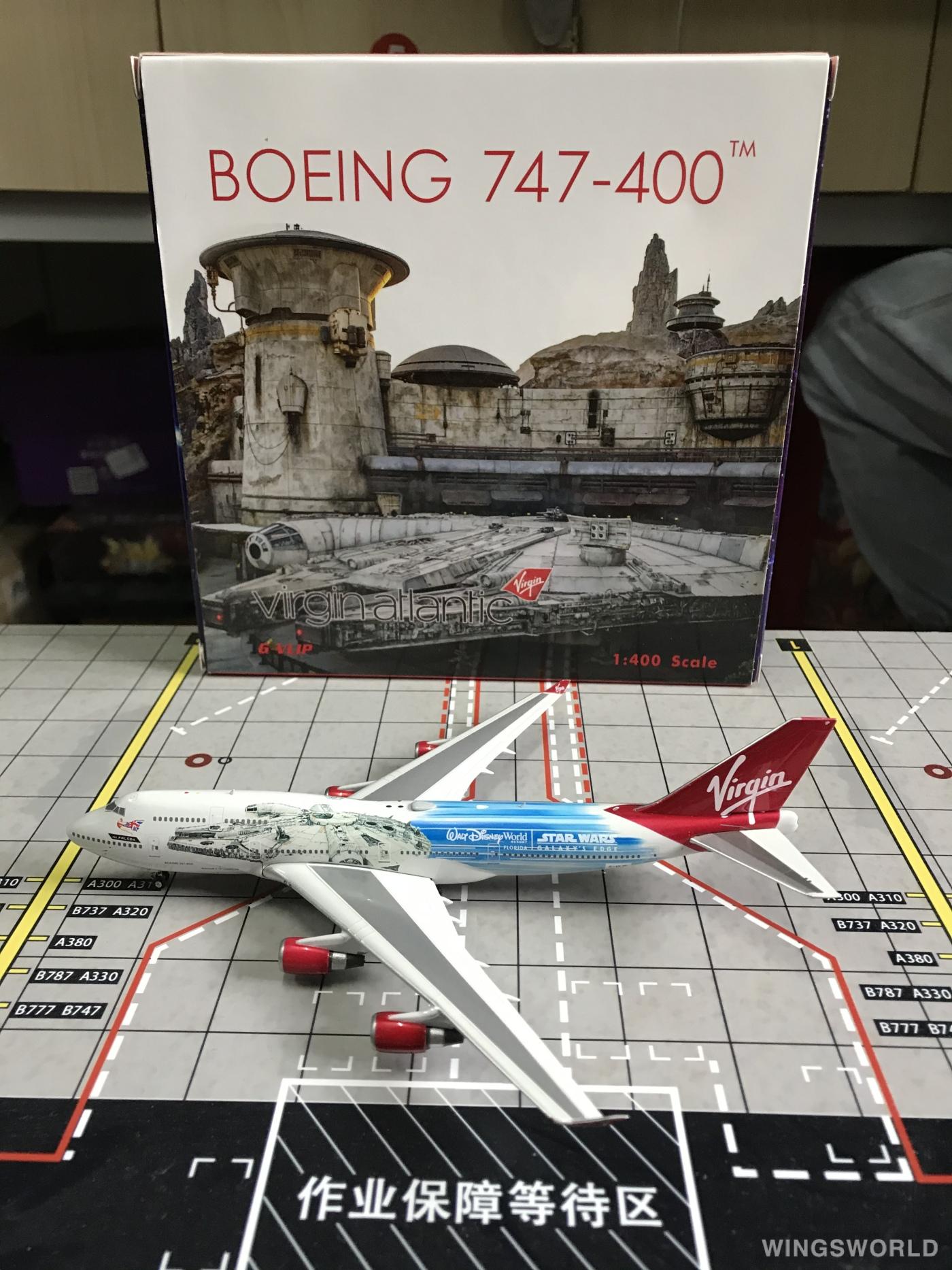 Phoenix 1:400 PH04322 Virgin Atlantic Airways 维珍航空 Boeing 747-400 G-VLIP