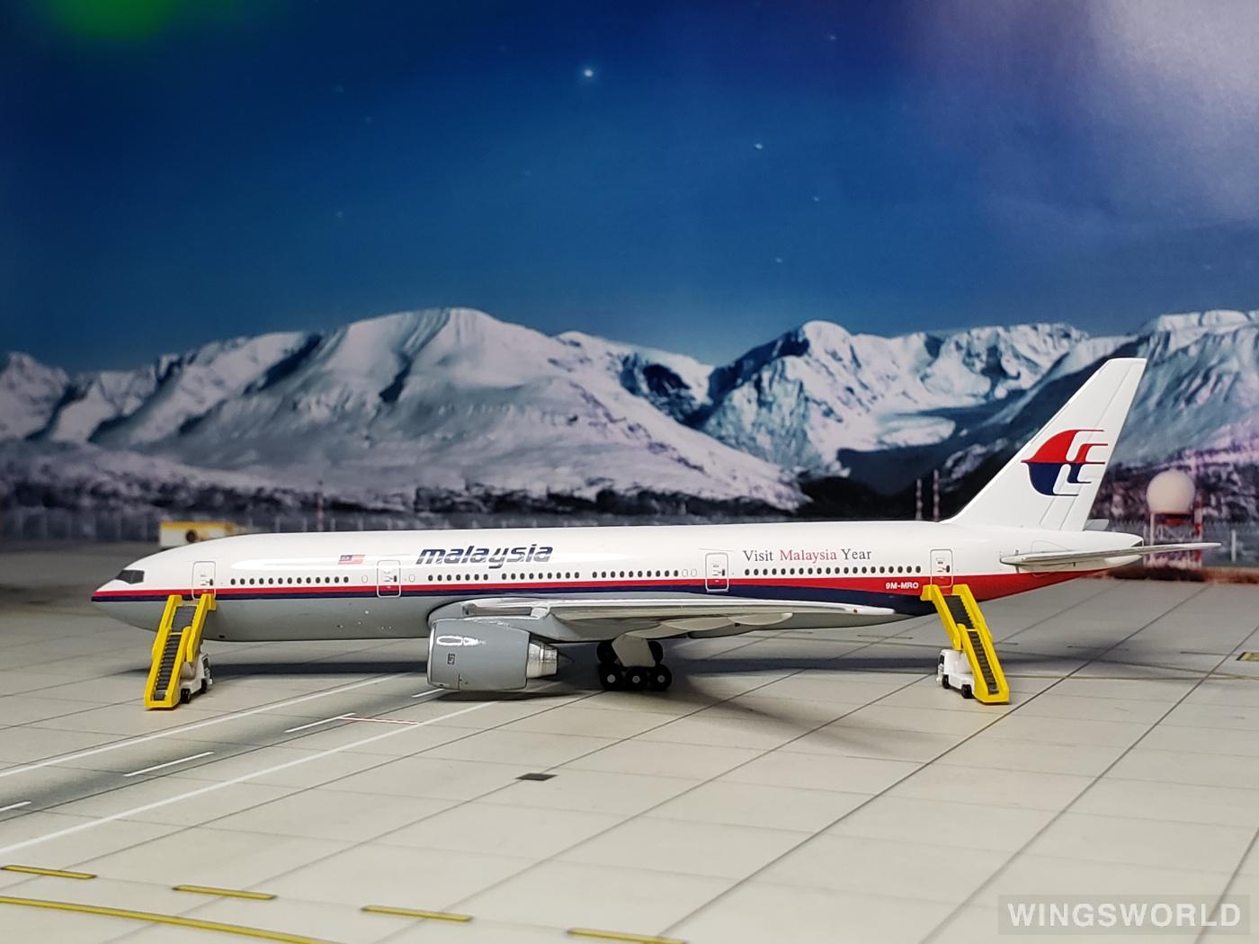 Geminijets 1:400 GJMAS936 Malaysia Airlines 马来西亚航空 Boeing 777-200 9M-MRO