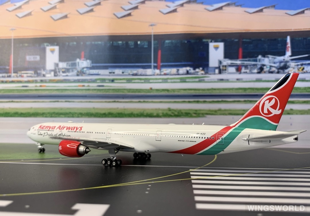 Phoenix 1:400 PH10883 Kenya Airways 肯尼亚航空 Boeing 777-300 5Y-KZZ