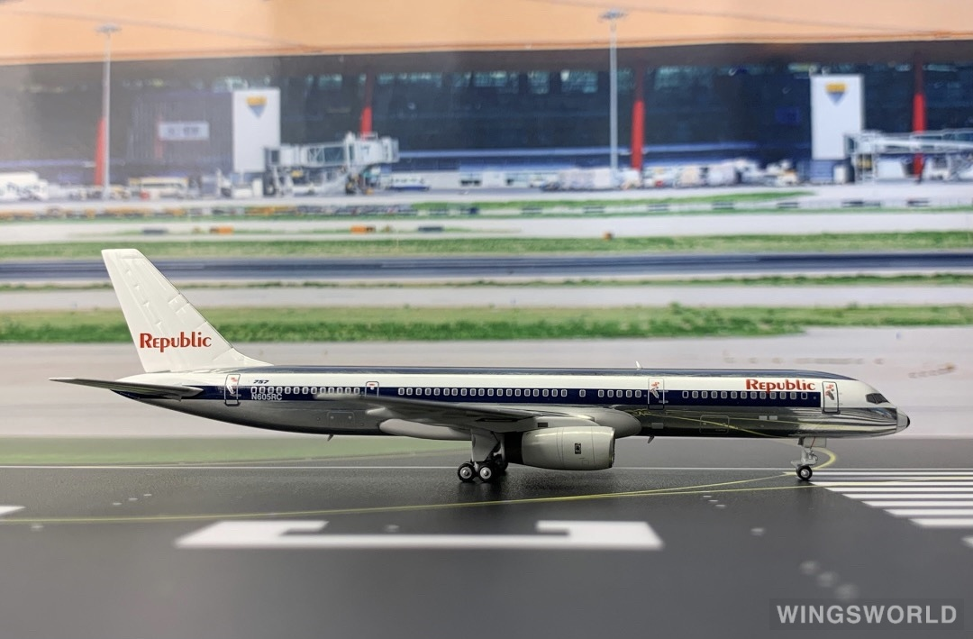 Ngmodel 1:400 NG53036 Republic Airline 共和航空 Boeing 757-200 N605RC