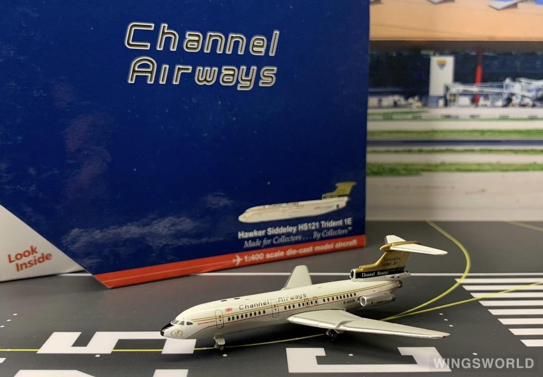 Geminijets 1:400 GJCAW772 Channel Airways Hawker Siddeley Trident G-AVYB