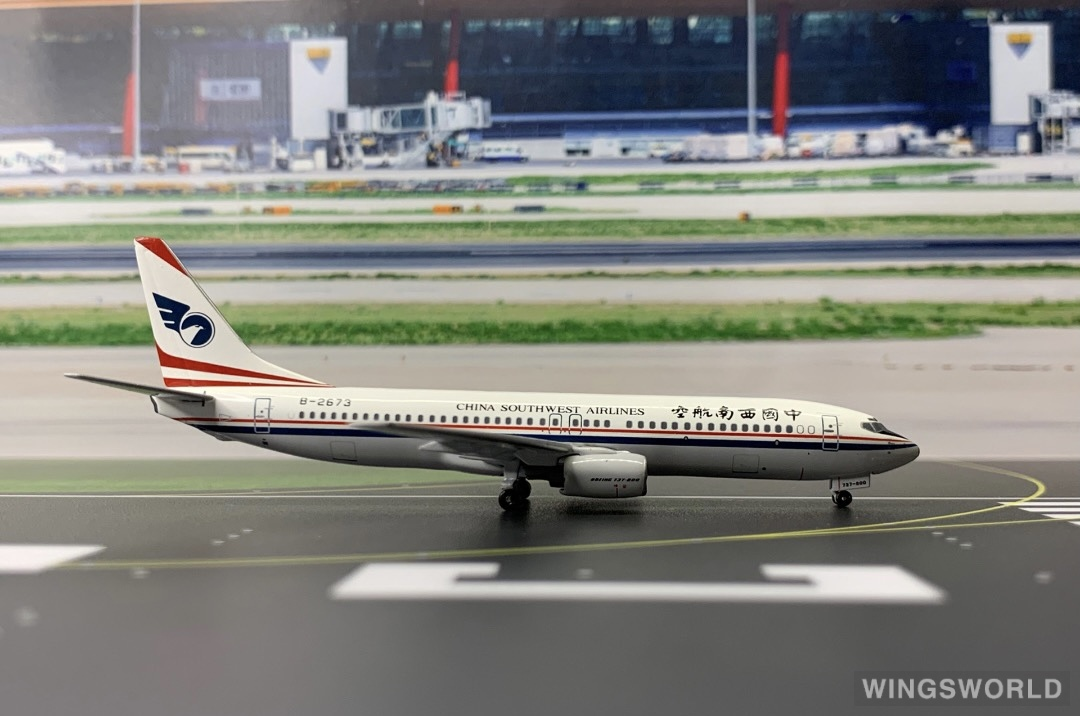 Pandamodel 1:400 PMB2673 China Southwest Airlines 中国西南航空 Boeing 737-800 B-2673