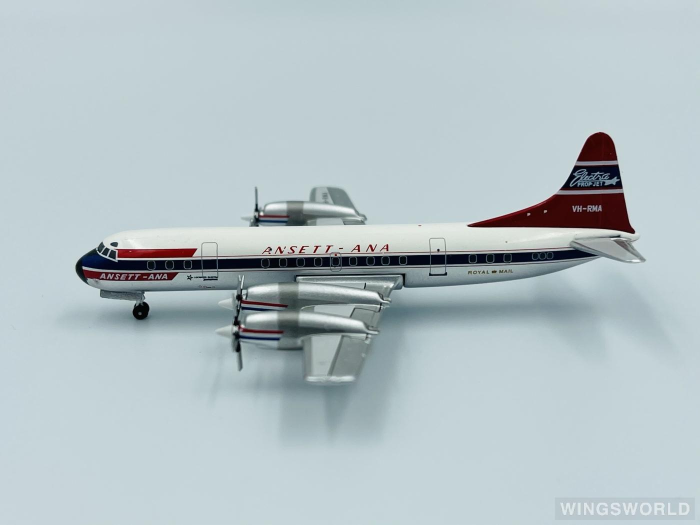 AeroClassics 1:400 ACVHRMA Ansett 澳洲安捷航空 Lockheed L-188 Electra VH-RMA