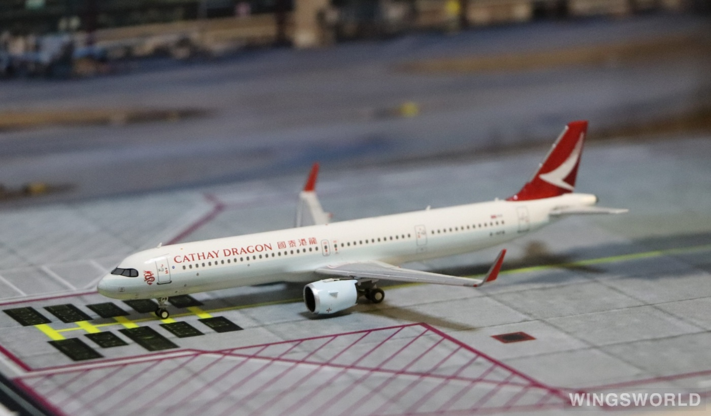 HYJLwings 1:400 HYJL81066 Cathay Dragon 国泰港龙航空 Airbus A321neo B-HPB