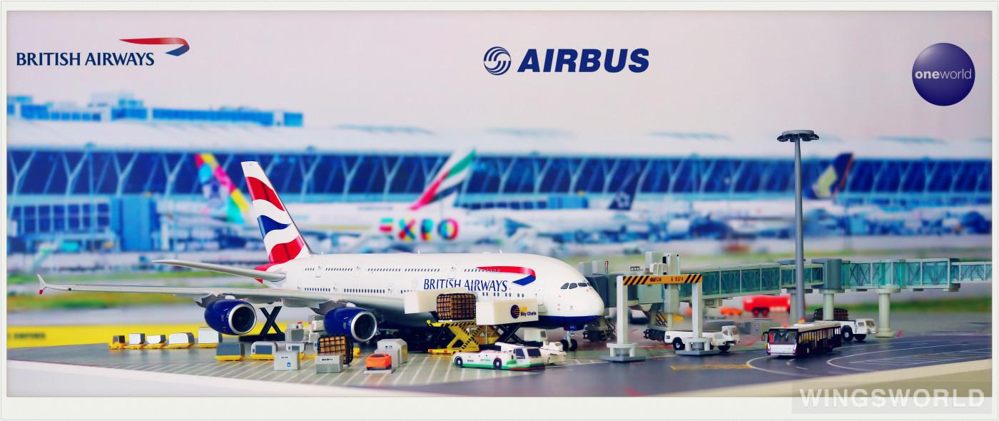 Phoenix 1:400 PH04353 British Airways 英国航空 Airbus A380-800 G-XLEL
