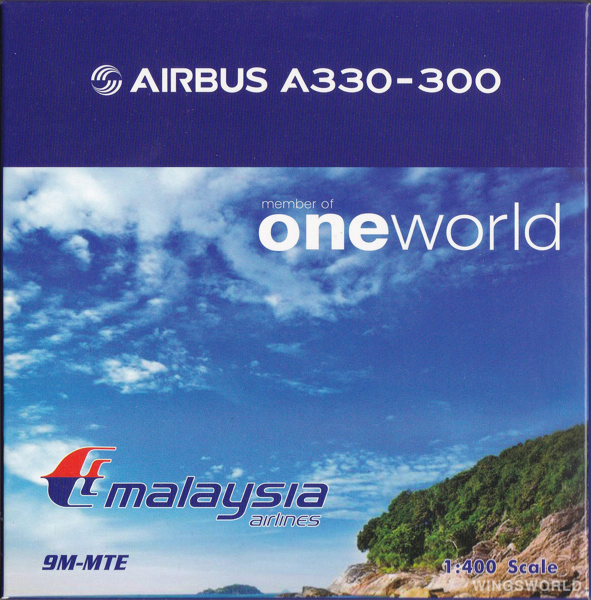 Phoenix 1:400 PH04358 Malaysia Airlines 马来西亚航空 Airbus A330-300 9M-MTE