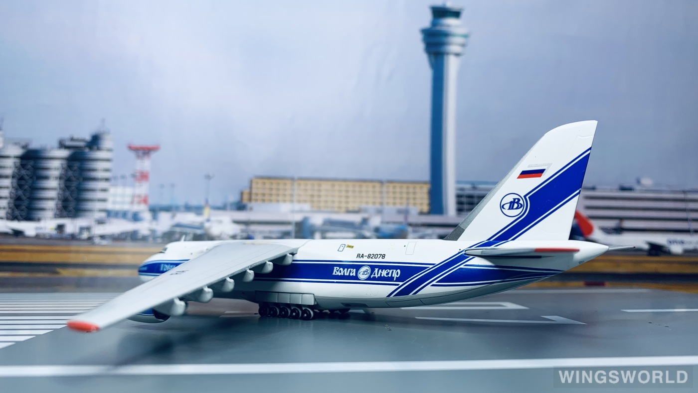 Geminijets 1:400 GJVDA1942 Volga-Dnepr 伏尔加-第聂伯航空 Antonov An-124 RA-82078