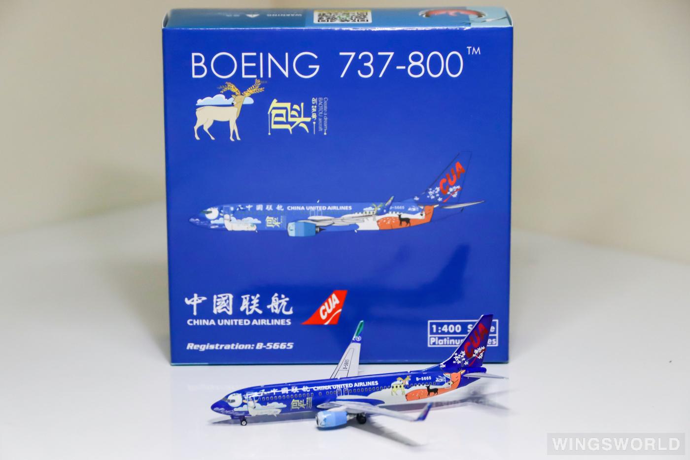 Phoenix 1:400 PH11403 China United Airlines 中国联合航空 Boeing 737-800 B-5665