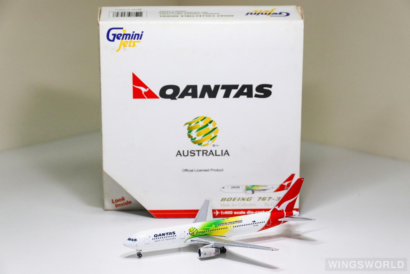 Geminijets 1:400 GJQFA472 Qantas 澳洲航空 Boeing 767-300 VH-ZXB