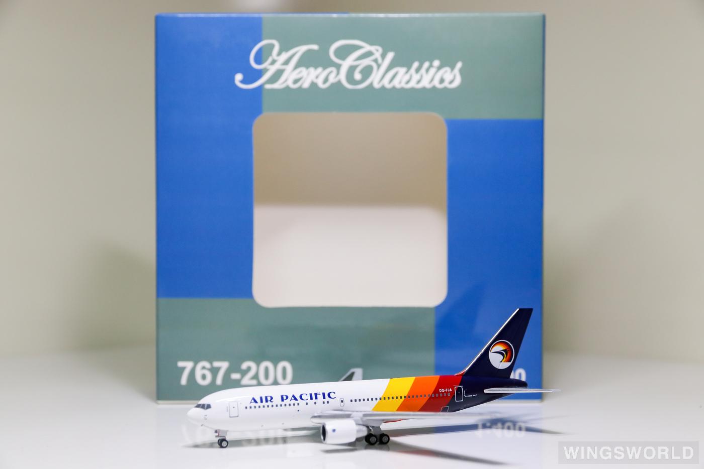 AeroClassics 1:400 AC419812 Air Pacific 斐济太平洋航空 Boeing 767-200 DQ-FJA