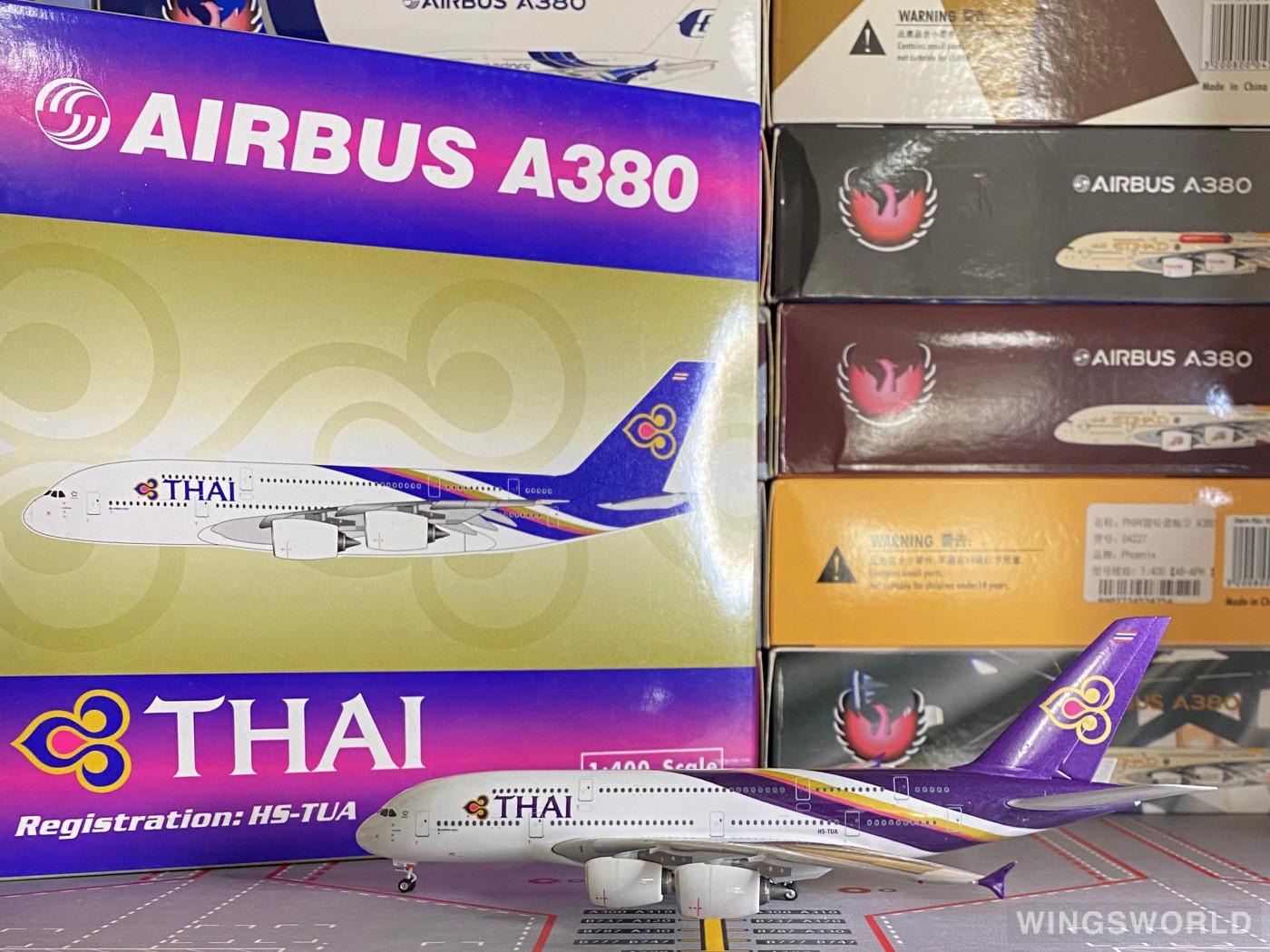 Phoenix 1:400 PH10560 Thai Airways 泰国国际航空 Airbus A380-800 HS-TUA