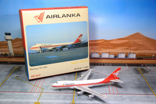 Air Lanka 兰卡航空 Boeing 747-200 4R-ULF  MG4RULF Magic 1:400