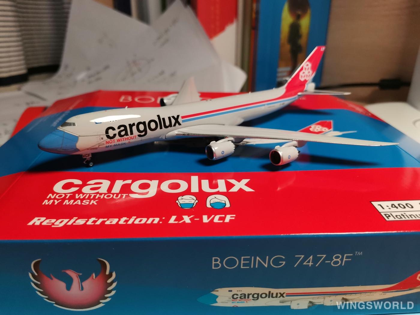 Phoenix 1:400 PH11638 Cargolux 卢森堡货运航空 Boeing 747-8 LX-VCF