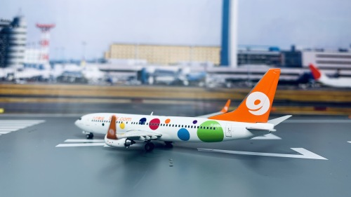 9 Air 九元航空 Boeing 737-800 B-1715 橙色波点. XX4914 JC Wings 1:400