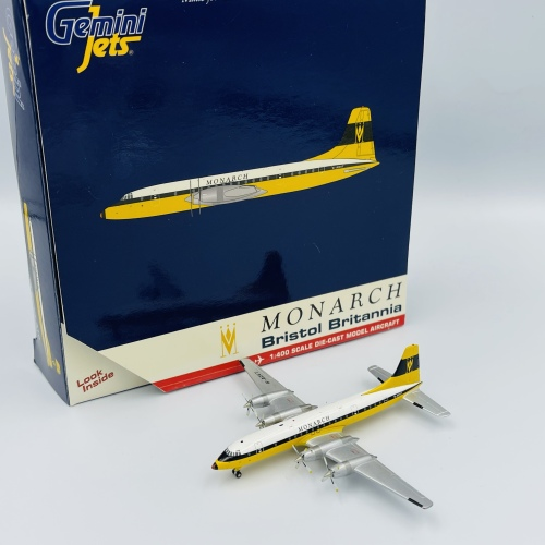 Monarch Airlines 君主航空 Bristol 175 Britannia G-AOVT  GJMON216 Geminijets 1:400