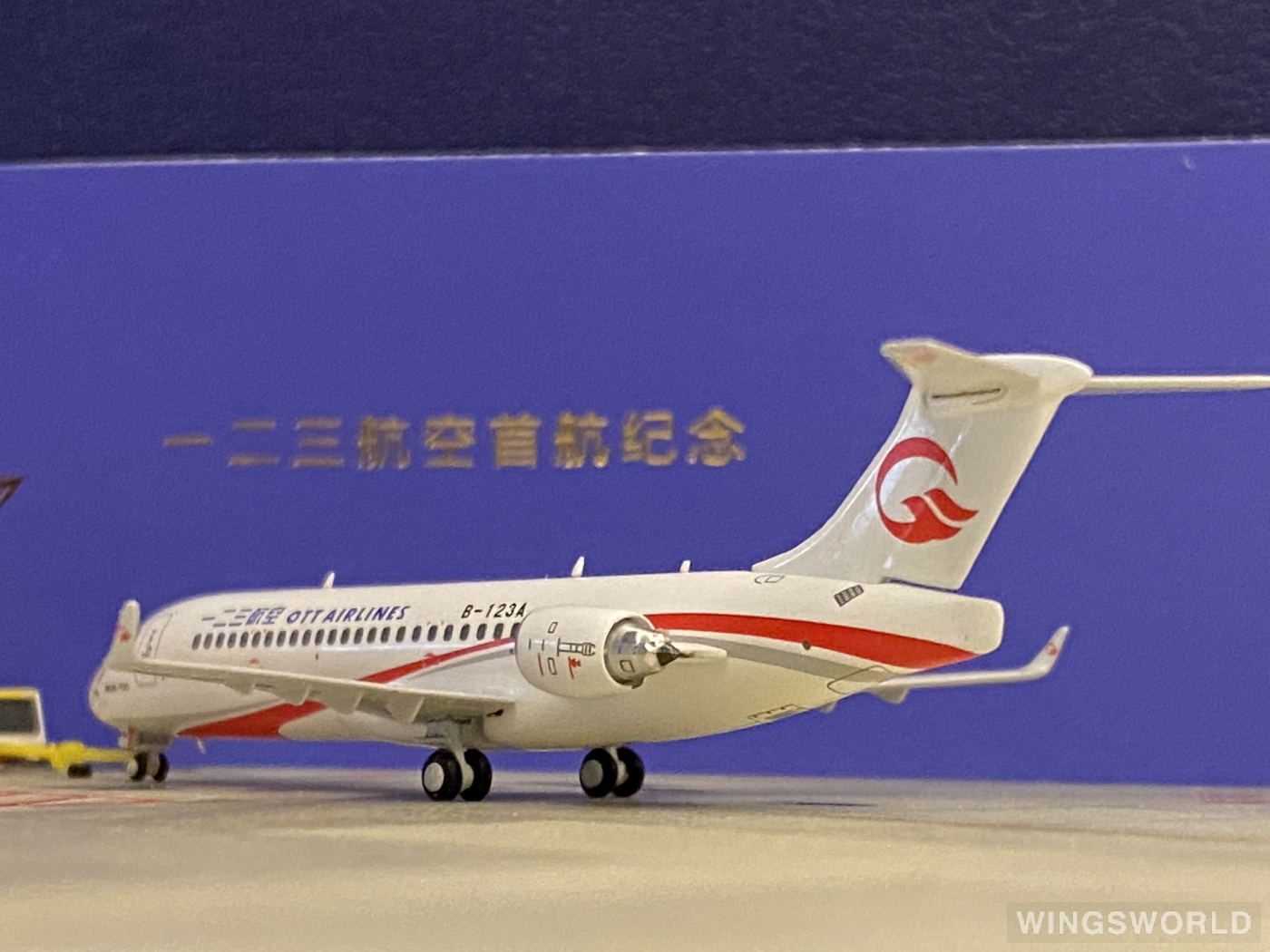 Ngmodel 1:400 NG21012 OTT Airlines 一二三航空 Comac ARJ21-700 B-123A