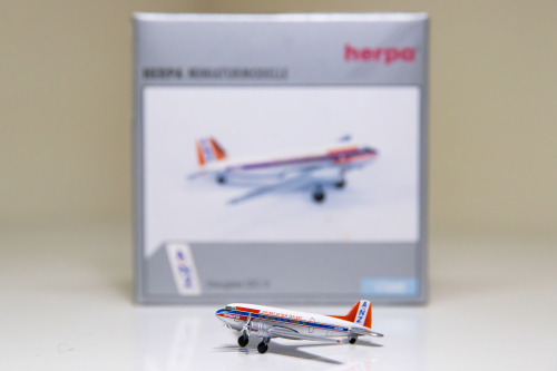 Southern Pacific Airlines of New Zealand 新西兰南太平洋航空 Douglas DC-3 ZK-CAW ANZ Airlines of New Zealand 500210 Herpa 1:500