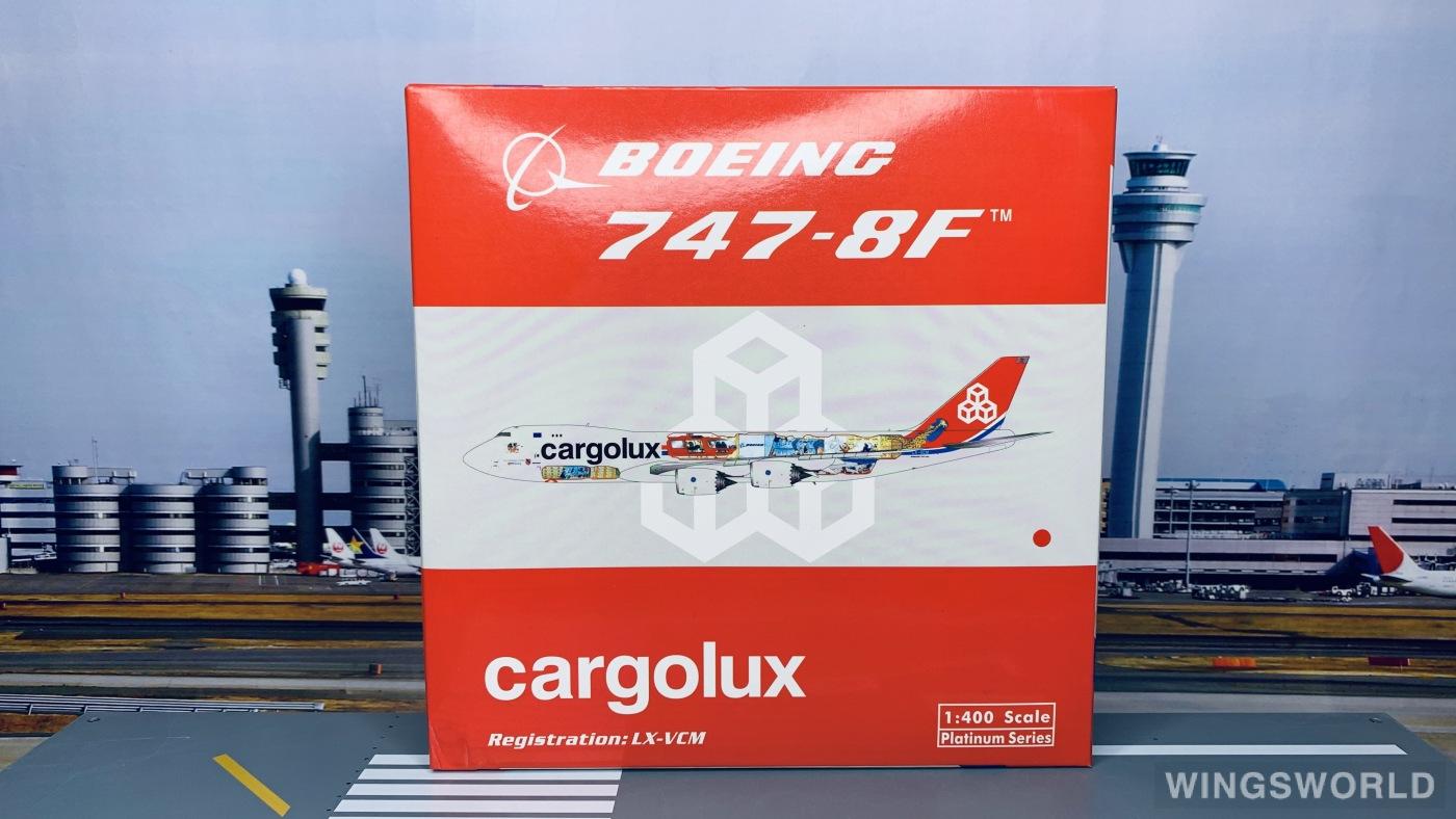 Phoenix 1:400 PH11328 Cargolux 卢森堡货运航空 Boeing 747-8 LX-VCM