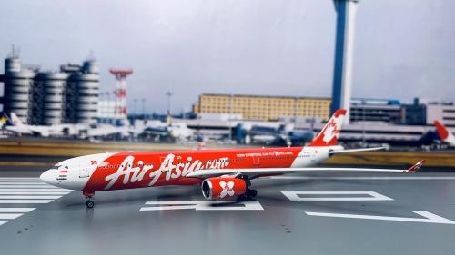 AirAsia 亚洲航空 Airbus A330-300 PK-XRA  PH11007 Phoenix 1:400