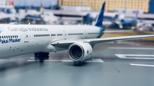 Garuda Indonesia 印度尼西亚鹰航 Boeing 777-300ER PK-GIJ 口罩 PH11683 Phoenix 1:400