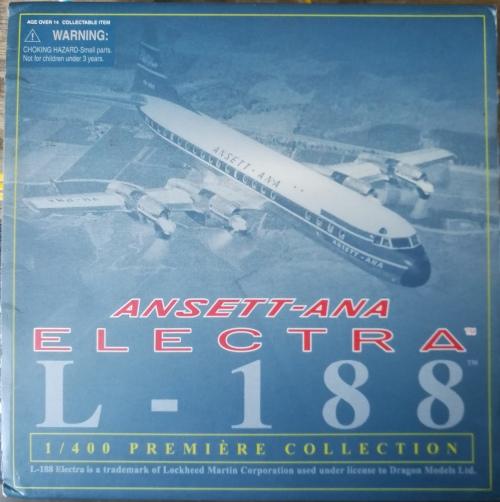 Ansett 澳洲安捷航空 Lockheed L-188 Electra VH-RMA  55597 Dragon Models 1:400