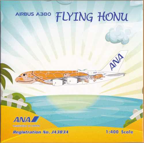 ANA 全日空 Airbus A380-800 JA383A Kala 橙海龟 PH04388 Phoenix 1:400