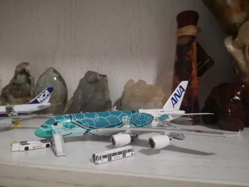 ANA 全日空 Airbus A380-800 JA382A  Kai海龟涂装 PH04210 Phoenix 1:400