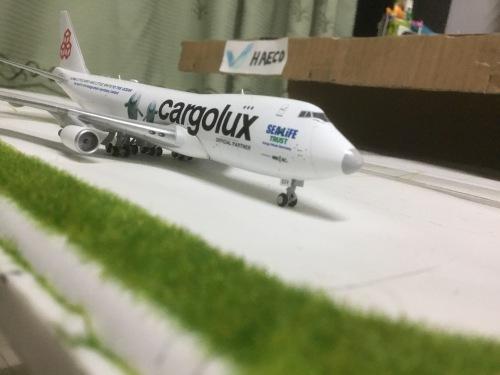 Cargolux 卢森堡货运航空 Boeing 747-400 LX-ECV 鲸鱼彩绘 XX4205 JC Wings 1:400