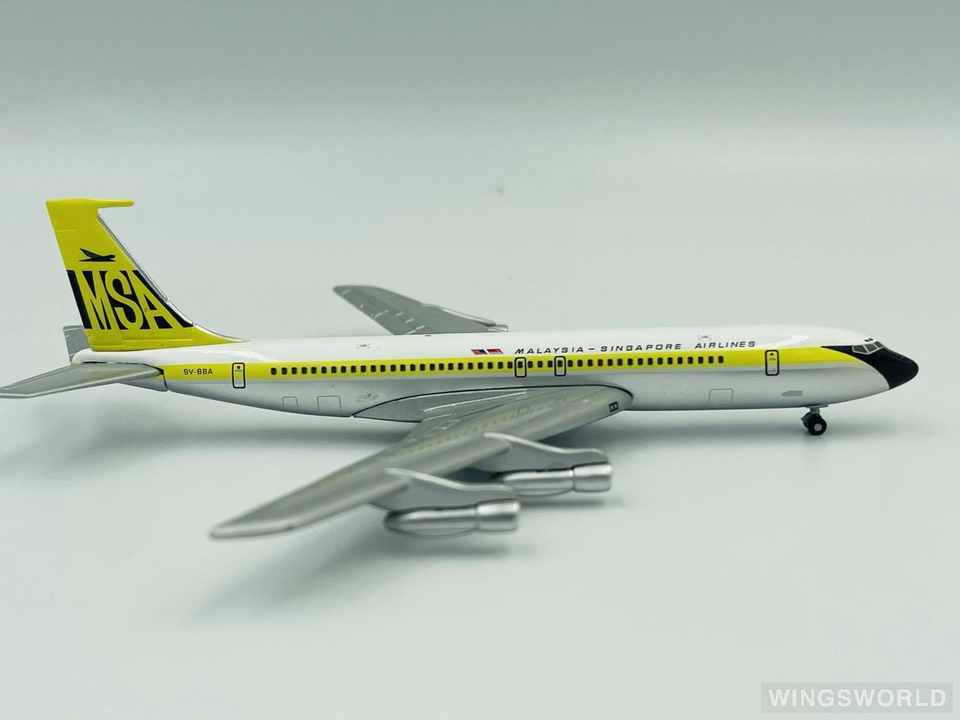 Geminijets 1:400 GJMSA386 MSA 马来西亚-新加坡航空 Boeing 707-300 9V-BBA